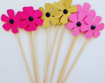 flower cupcake toppers/appetizer picks
