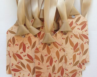 Fall leaf party favor tags/gift tags