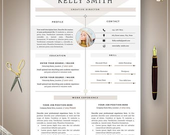 Creative Resume Template / CV Template | Professional Resume Template | Clean and Modern Resume | Word Template | Instant download