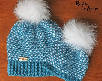 Women hat, Baby hat ARTIC, mother daughter kit, winter women hat, Tunisian crochet hook, adult size
