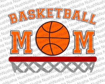 Basketball mom SVG, DXF, PNG, eps, cdr, Vector, Digital Cut File