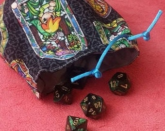 Zelda Windwaker Stained Glass Dice Bag