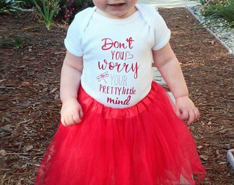 Don't You Worry Your Pretty Little Mind Onesie, Taylor Swift Onesie, Taylor Swift, Baby Girl Onesie, Baby Girl Shirt, Taylor Swift Shirt