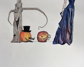 Bruised - watercolor art