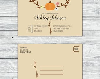 Fall Baby Shower Invite
