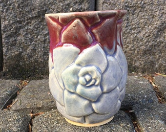 Lavender Rose Tea Tumbler 12oz