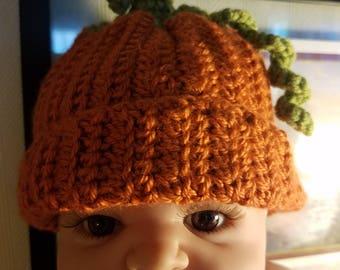 Baby Pumpkin Crocheted Hat