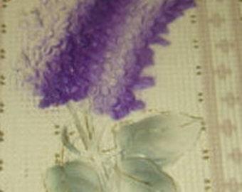 Pretty Vintage Purple Flowers Postcard