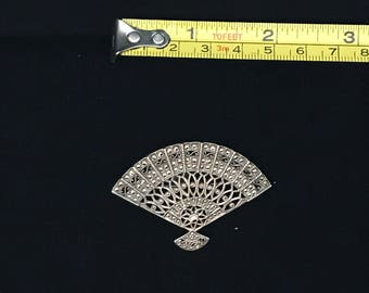 Sterling Silver Fan Pin