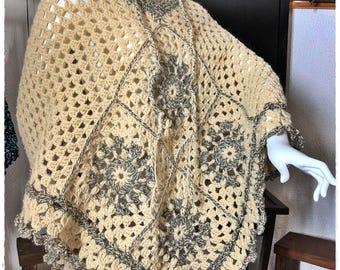 A beautiful poncho made of sheep's wool