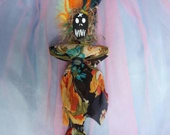 Voodoo Doll, Authentic, Vodou, Original, Handmade, New Orleans Inspired, Love, Good Luck, Poppet, Prosperity, Wealth, Art Doll, Money Spell