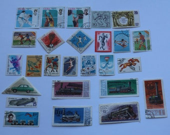 Set of 26 pcs Postal, Postage Stamp, Collecting, Philately # 17