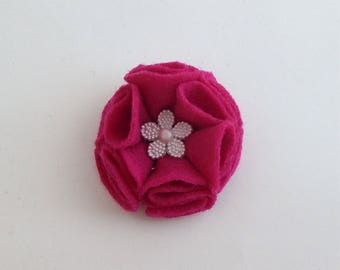 Felt flower hair clip