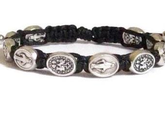 Miraculous medal bracelet.catholic bracelet.medalla miraculosa