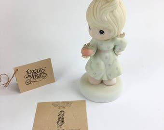 Vintage Precious Moments Yeild Not To Temptation Figurine 521310