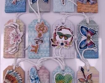 3D stickers - glitter - indian - butterflies - feather