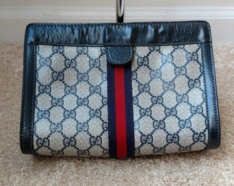 Authentic Vintage Gucci Cosmetic Bag Clutch