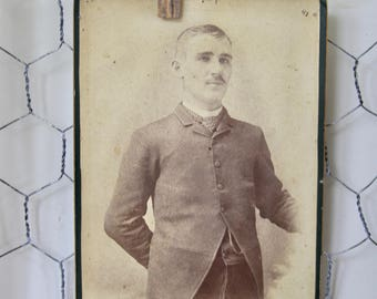 Antique Cabinet Card Photo. Man, Late 1800s Collectible Photo, Scrapbooking, Art Supply, Antique Collection, Antique Photo, Victorian, Prop