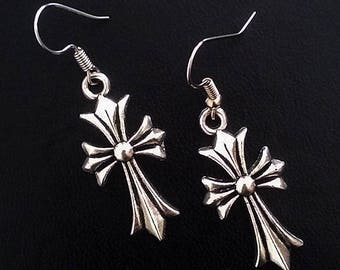 Goth earrings cross