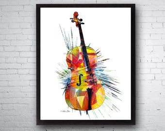 Cello, Cello Player, Musical Instruments, Cellist, Cello Art, Cello Music, Cello Print, String Instrument, String Bow, Orchestra Art, Band