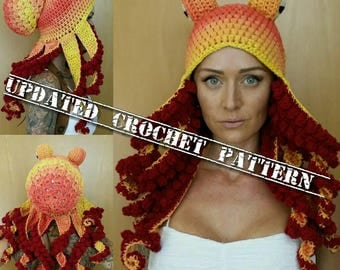 Updated Crochet Octopus Hat PATTERN (pls read description before ordering)