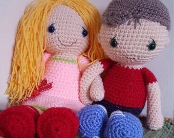 Doodle & Bert crocheted dolls