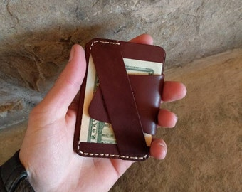 The Wraptor, front pocket wallet, minimalist wallet, minimalist wallet leather, handmade wallet leather, wallet leather men, gift for men