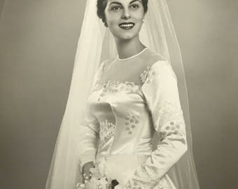 1950's | Vintage Wedding Portrait | black and white
