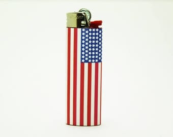 American Flag Bic Lighter - Custom Made - High Quality
