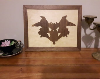 Rorscharch, table, Wall Decoration, psychoanalysis, Wood, Vertical Embellishment, Classy