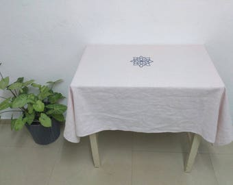 Japanese Linen Tablecloth Linentablecloth Handcrafted Tablecloth White Tablecloth