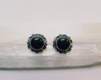 Black Onyx Earrings Black Onyx Studs Black Onyx Crystal Earrings Black Onyx Crystal
