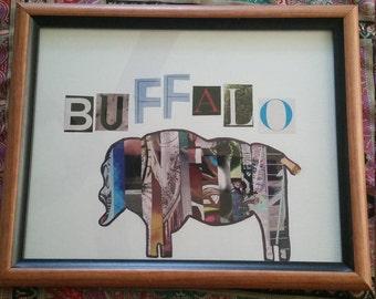 Buffalo NY Upcycled/recycled Magazine Art