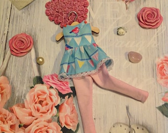 Blythe, Blythedoll, Blythedress, Blytheoutfit, Blythestyle, dress and leggings, blythe fashion, Licca dress