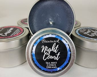 Night Court- 4 oz. Candle- A Court of Thorns & Roses- Soy Vegan Candle