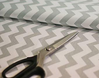 Grey chevron fabric by the Yard, Fat Quarter Light GRAY Fabric Medium Chevron Fabric 100% Cotton Fabric Quilting Fabric Apparel Fabric
