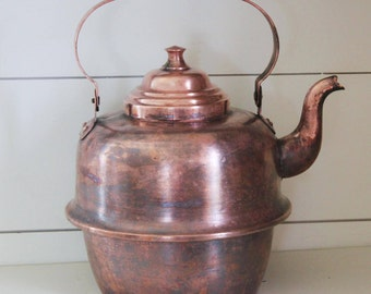 Vintage copper kettle, copper tea kettle, retro tea kettle, copper tea pot, vintage kettle, vintage tea kettle, vintage copper tea kettle