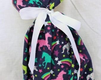 Cloth Gift bag - Unicorn Gift Wrap - Reusable Gift Bag, Eco Friendly Gift Bag (small)
