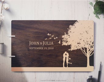Wedding Guest Book Couple Wedding guest book alternative, Tree wedding guest book wood Wedding guestbook Personalized guestbook wooden