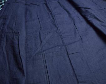 Vintage Japanese Kimono Cotton Antique Boro NORAGI Indigo Blue KASURI