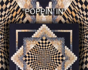 Poppin In Quilt Pattern Digital File Download