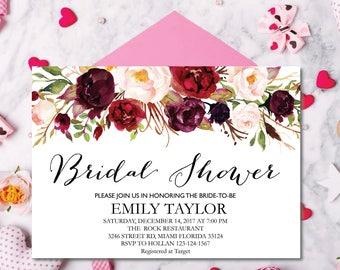 Bridal Shower Invitation, Printable Bridal Shower, Boho Bridal Shower, Instant Digital Download File, Flower Bridal, Bridal Shower Signs 3