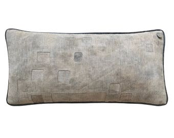 "Antique German Grain Sack Pillow from 1903 - 24"" x 12"""