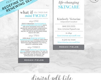 Rodan and Fields Mini Facial Card & Business Card Personalized Digital Files | What If Essentials