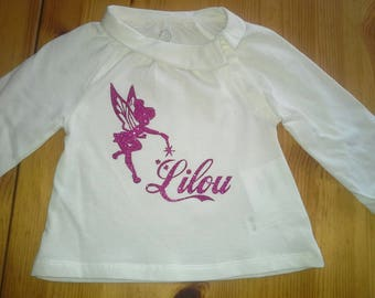 T-shirt with personalized name fairy girl.