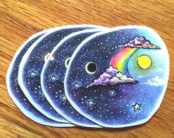 Moon, Rainbow & Sun Sticker