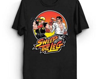 Sweep the Leg - Street Fighter T-Shirt | Karate Kid Shirt | Parody T-Shirt