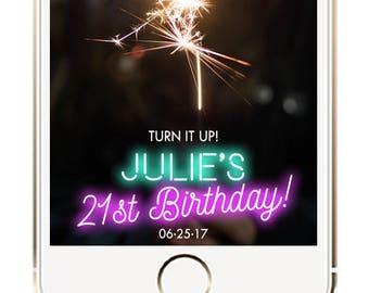 Birthday Geofilter, Neon Birthday Geofilter, Birthday Snapchat Filter, Neon Birthday Ideas, Happy Birthday Geofilter, Birthday Party Filter