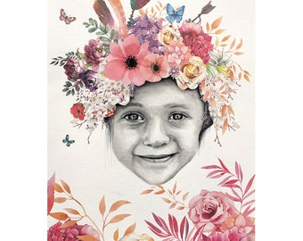 Hand Drawn Portrait Caeli's crown