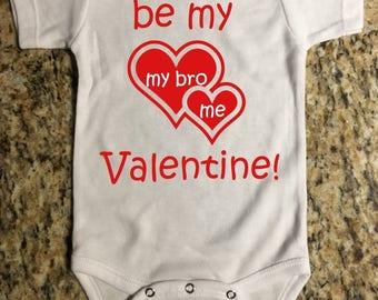 Valentine's Day White Onesie | Be My Valentine | Funny Baby Onesie | Baby Bodysuit | Baby Clothing | Baby Girl Onesie